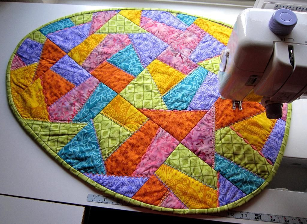 Crazy quilted easter egg table runner easter egg and patterns crazy quilted easter egg table runner negle Choice Image