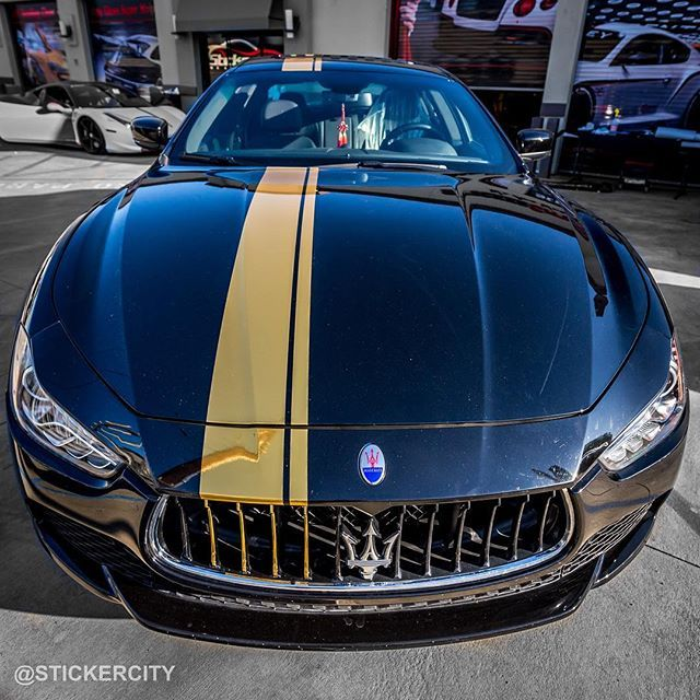 Gold Chrome On That Maserati! Maserati Stripe   Https://www.stickercity