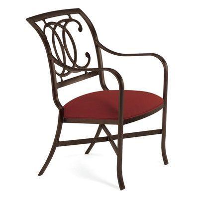 Tropitone Palladian Patio Dining Chair with Cushion Finish: Mocha ...