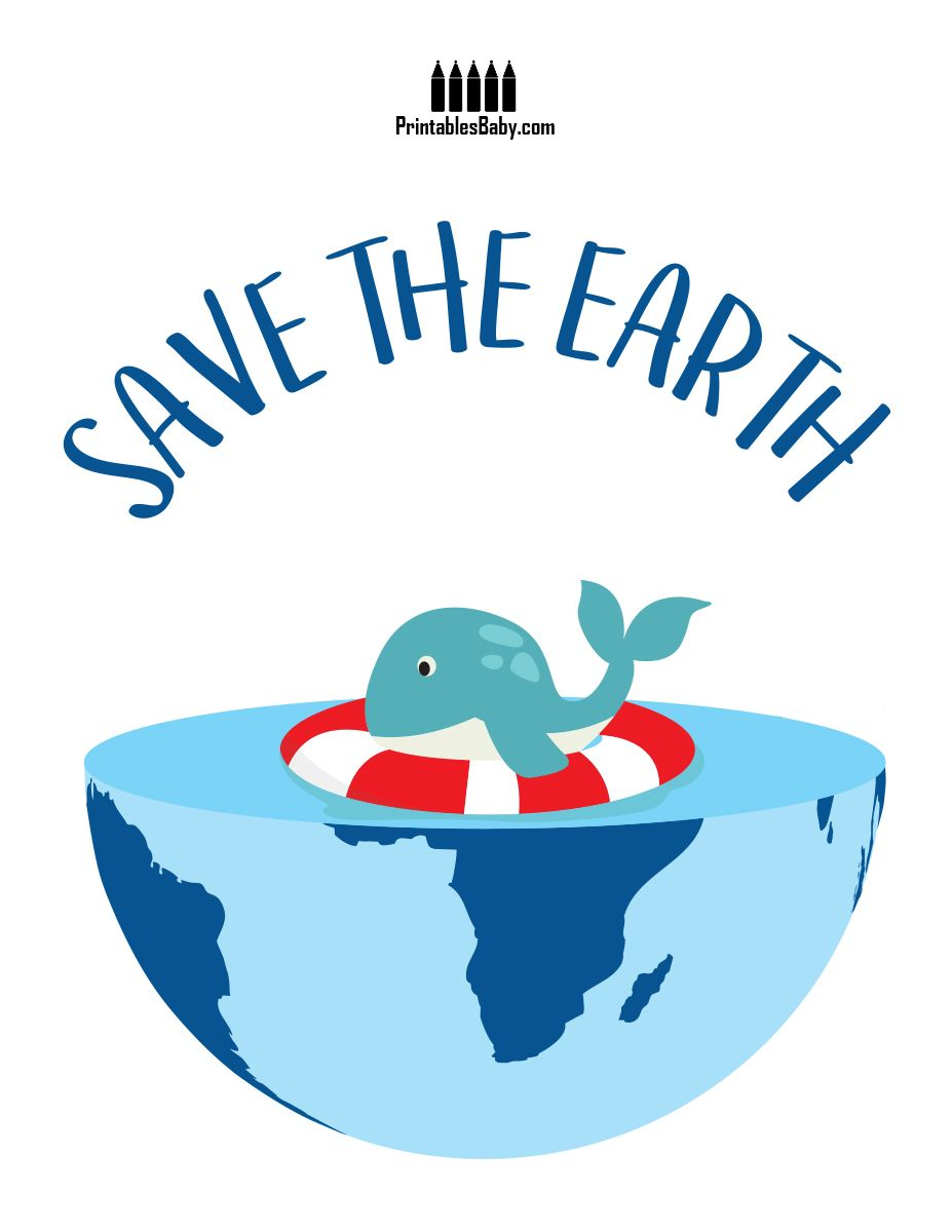 Dolphin Save Earth   Art cards, Free printables and Earth
