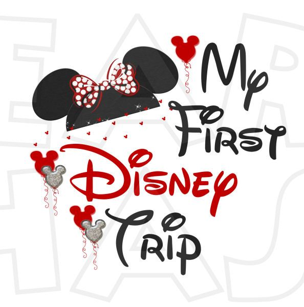 36b41865 My first Disney trip Minnie Mouse ears INSTANT DOWNLOAD digital clip art  DIY for shirt :: My Heart Has Ears