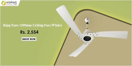 Bajaj Euro 1200mm Ceiling Fan White A Decorative Fan