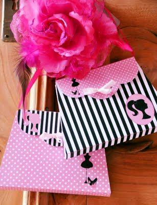12-Pieces Barbie Favor Bag Tags Barbie Party Decor Fashion Barbie Decorations Birthday Barbie Themed Favor Tags