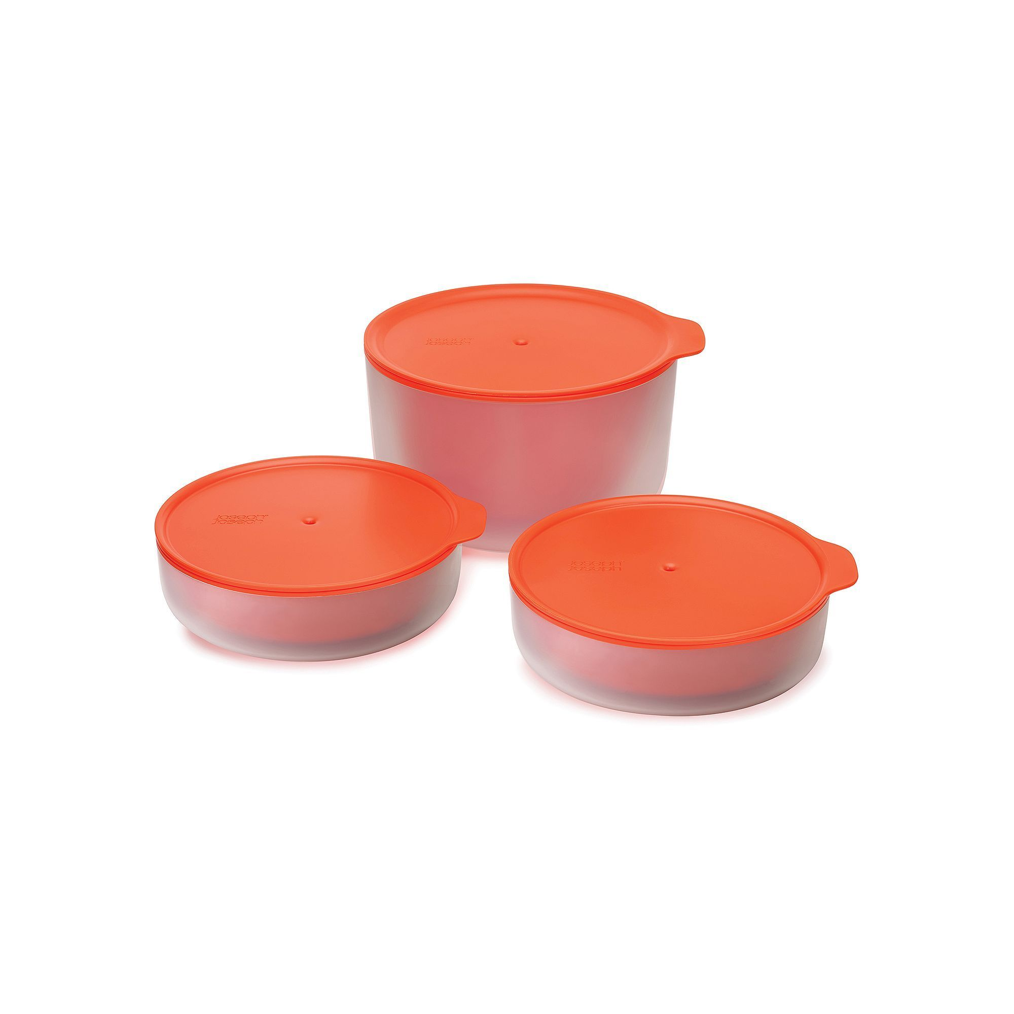 Joseph Joseph M-Cuisine 3-pc. Cool Touch Microwave Bowl Set, Orange