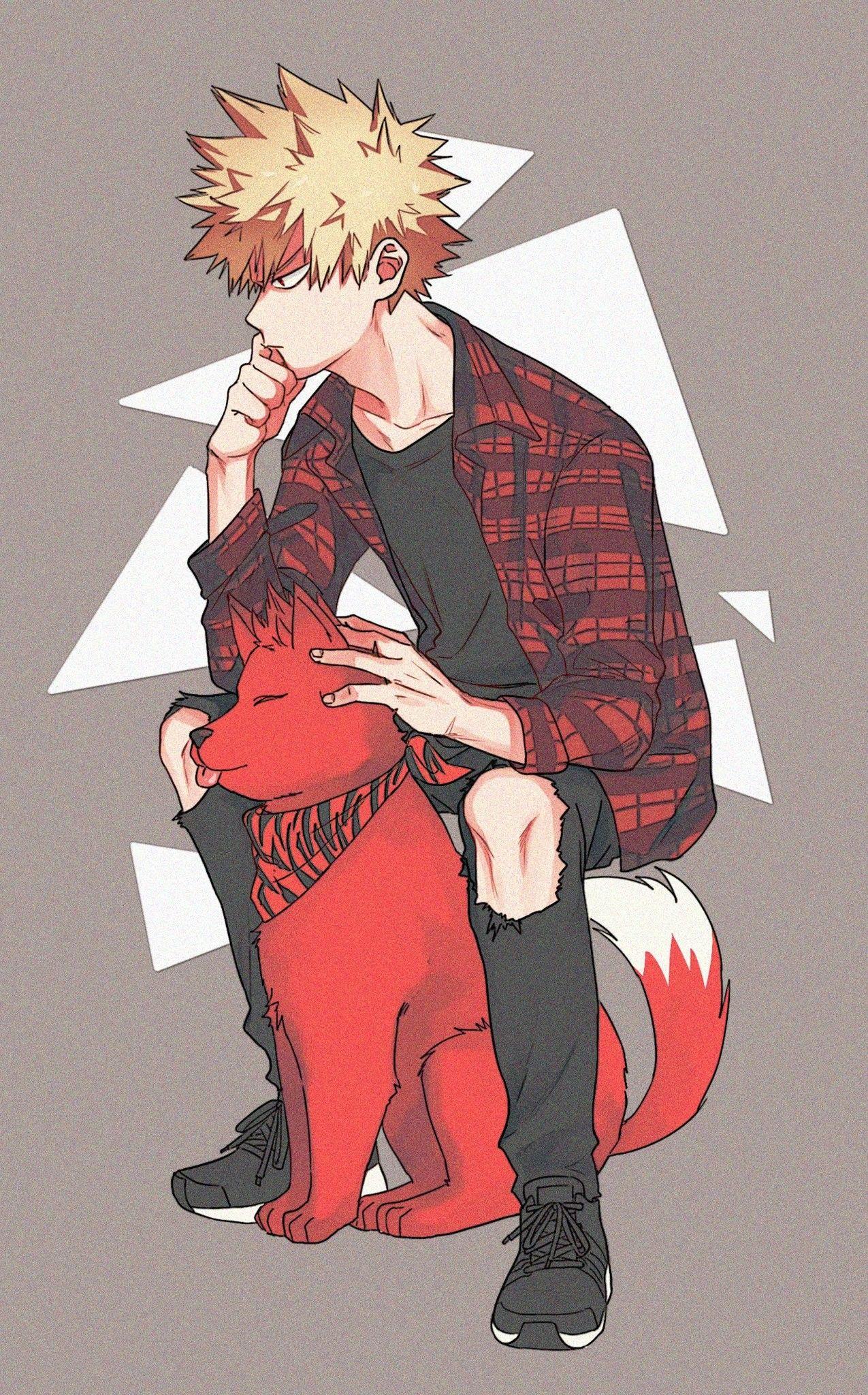 Bakugou Katsuki Dog Kirishima Eijirou Anime Boyfriend Hero Academia Characters My Hero Academia Manga