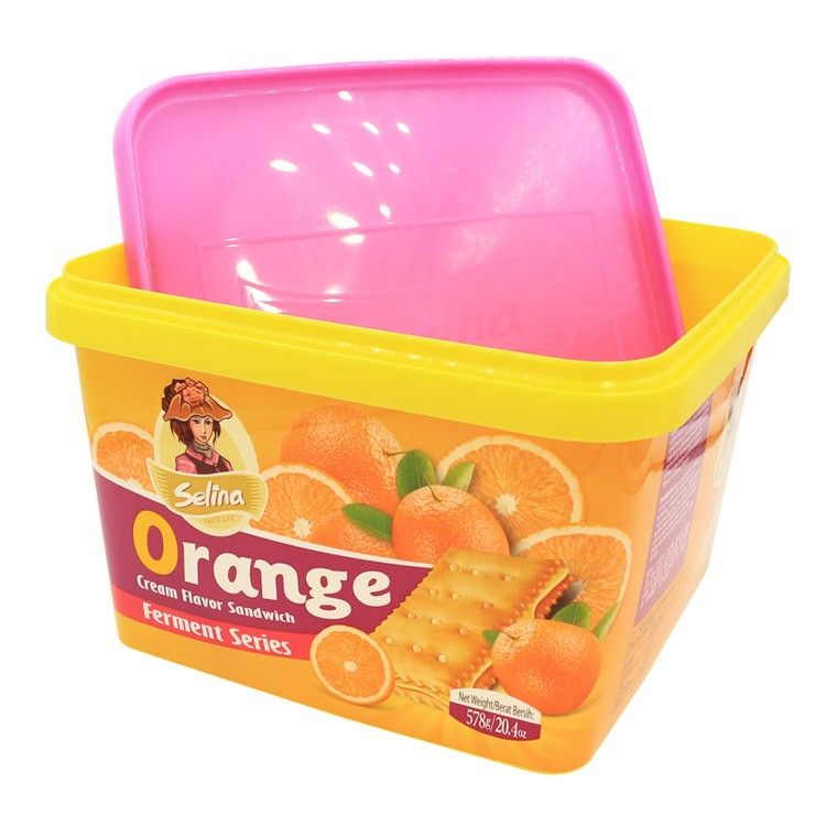 2 5l Lockable Easy Open Plastic Cracker Container With Lid Iml Pp