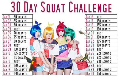 Taeyeon - 30 Day Squat Challenge (advanced)   Weight Loss