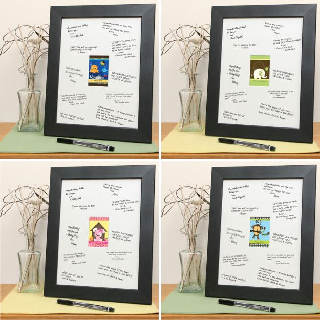 Signature mat as a baby shower guest book httpwww frame the baby shower invite and bring for all the guest to write a little message to baby signature mat as a baby shower guest book negle Choice Image