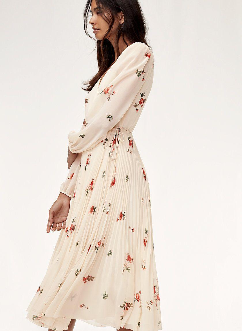 Beaune Dress Lslv Dresses Fashion Sheer Chiffon