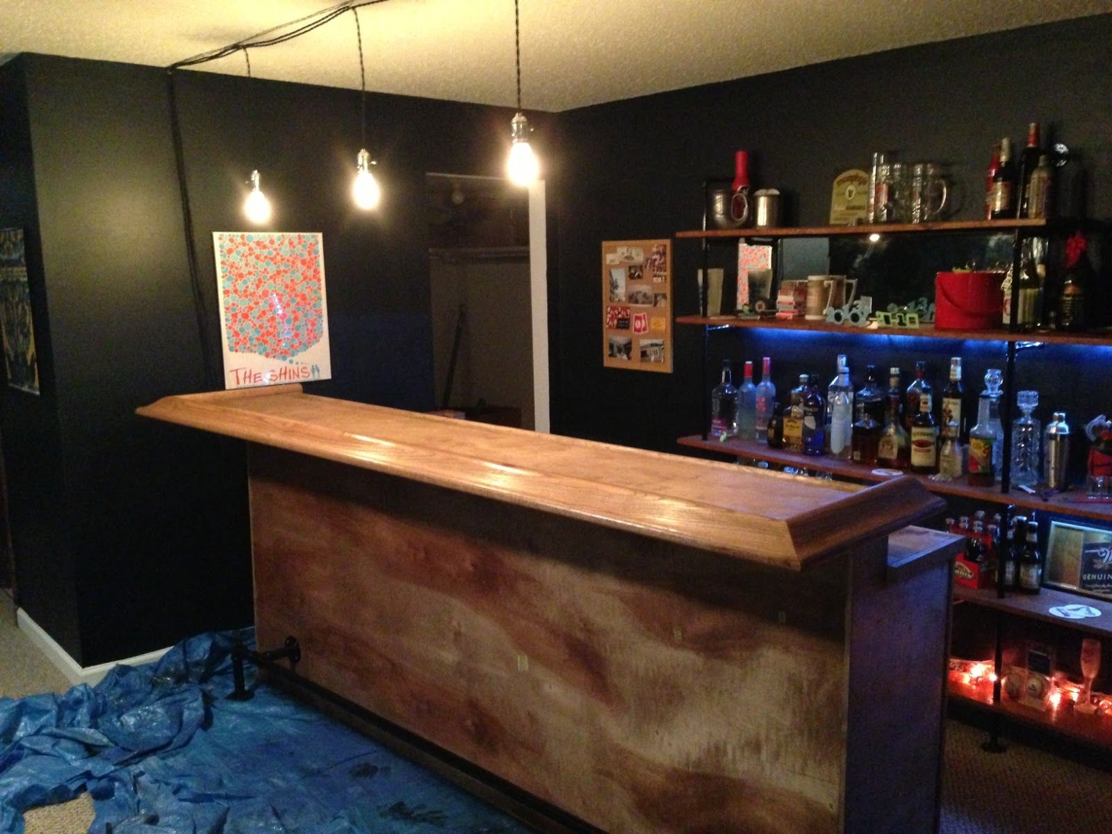 Images About Bar Room On Pinterest Man Cave Diy Home Bar - Diy basement bars
