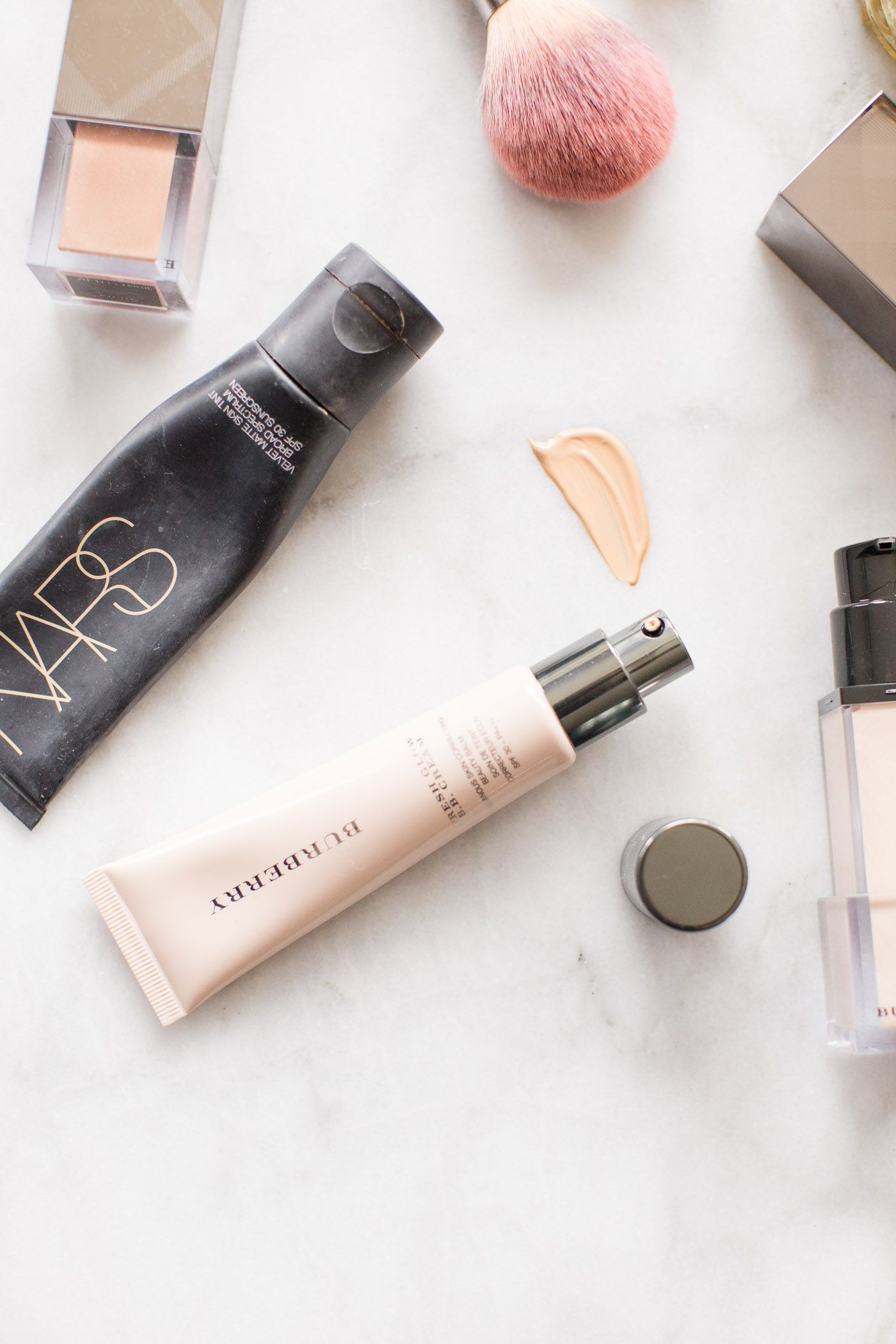 The best lightweight summer foundations Flatlay makeup