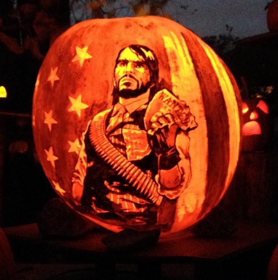 Pumpkin John Marston RedDeadredemption via Reddit user
