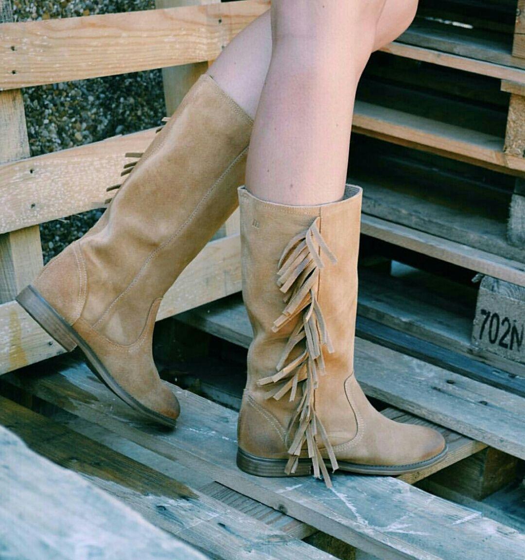 mejor sitio web acc28 0d862 Va de flecos y de # botines Mustang!   Zapatos Marlo's ...