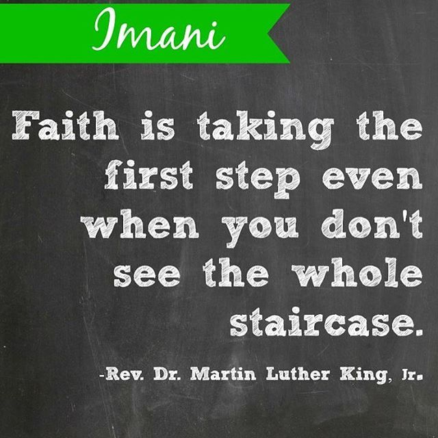 Last day of #Kwanzaa: Imani (ee-Mah-nee) meaning Faith  Have