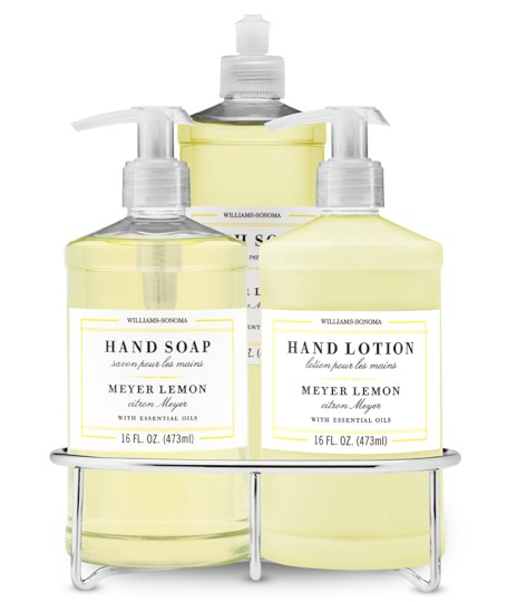Dish Soap Hand Soap Lotion Set With Wire Caddy Meyer Lemon