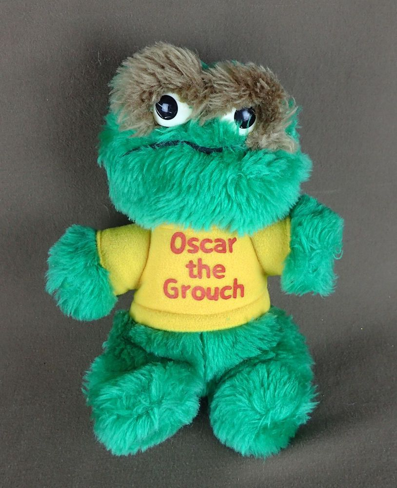Oscar the Grouch * Sesame Street Plush Friends #79353 * Vintage 1983 ...