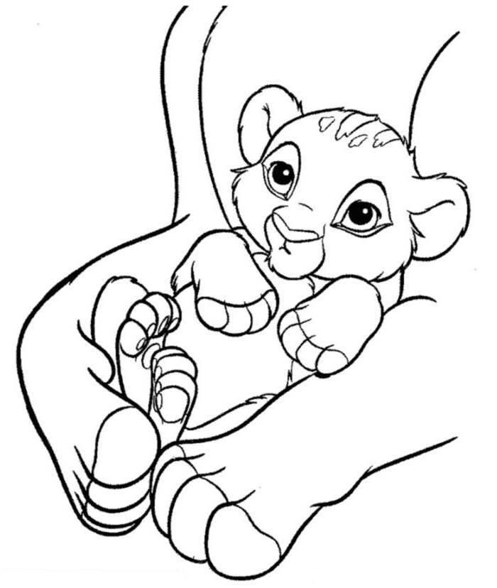 Baby Simba The Lion King Coloring Page Lion Coloring Pages King Coloring Book Lion King Drawings