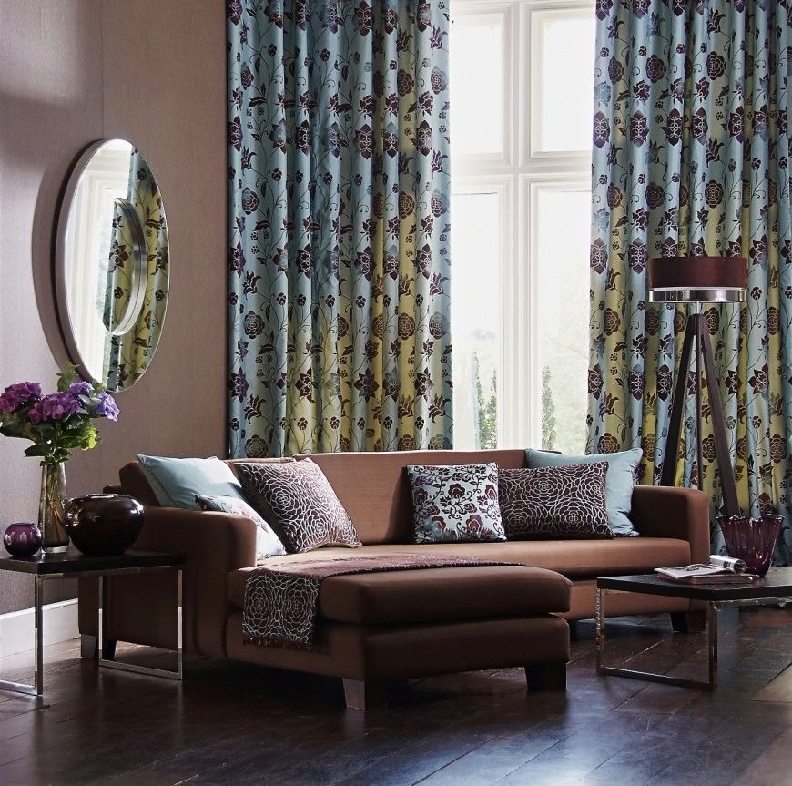53 Living Rooms With Curtains And Drapes Eclectic Variety Curtains Living Room Blue Couch Living Room Blue Living Room