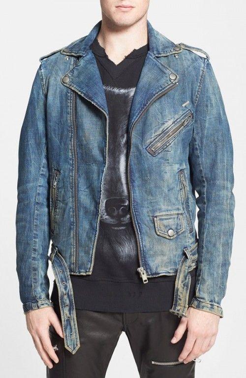 6288d856 Diesel Bhonzer Denim Moto Jacket | Coat, Jacket and Clothing | Moto ...