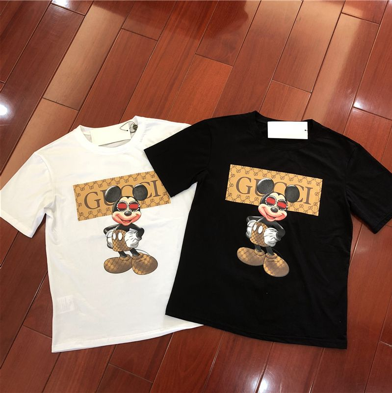 bdce620dc3a0a gucci black White Mickey Mouse  mickey  gucci  top