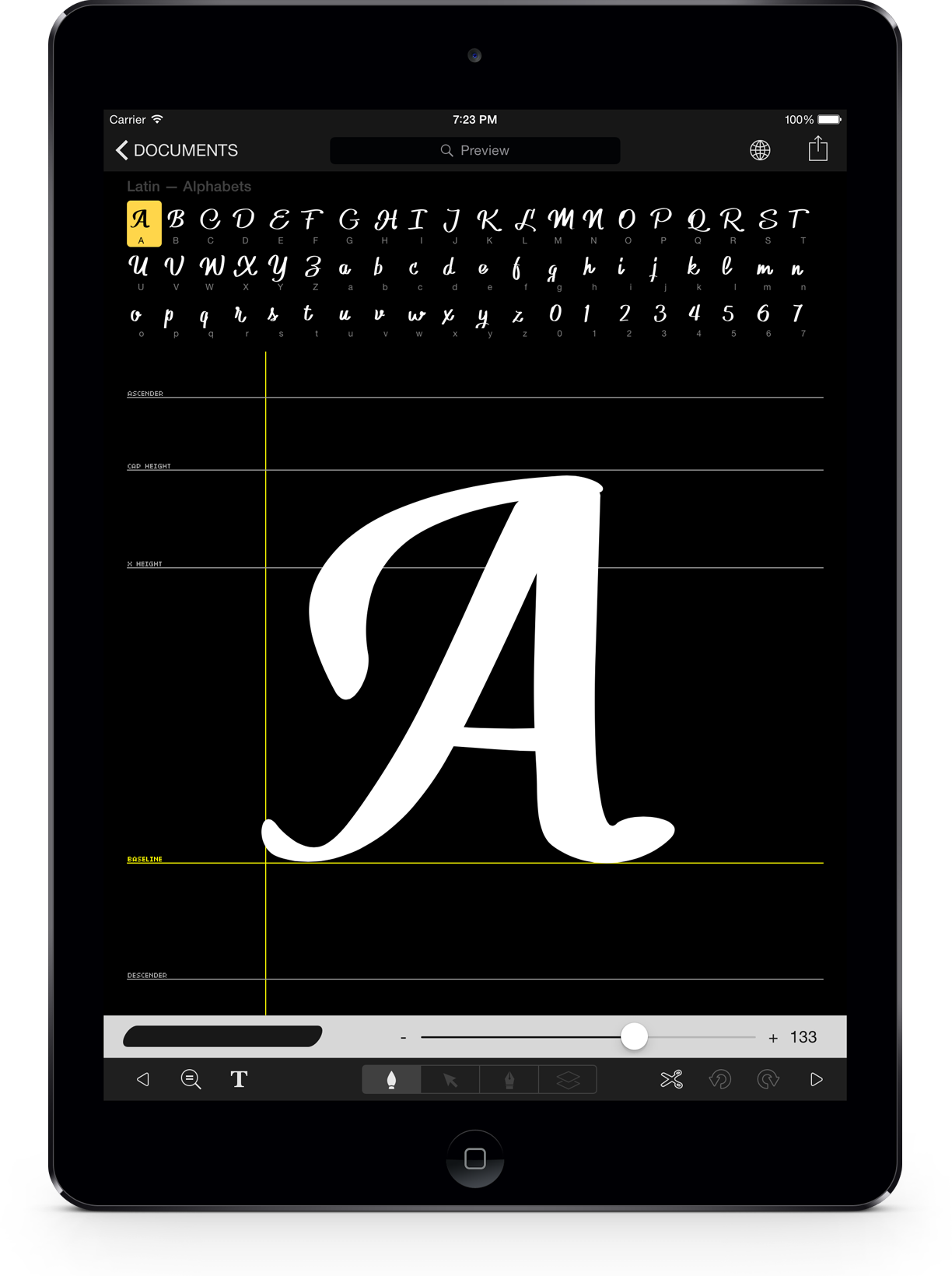 iFont Marker. Make fonts from your handwritting with this