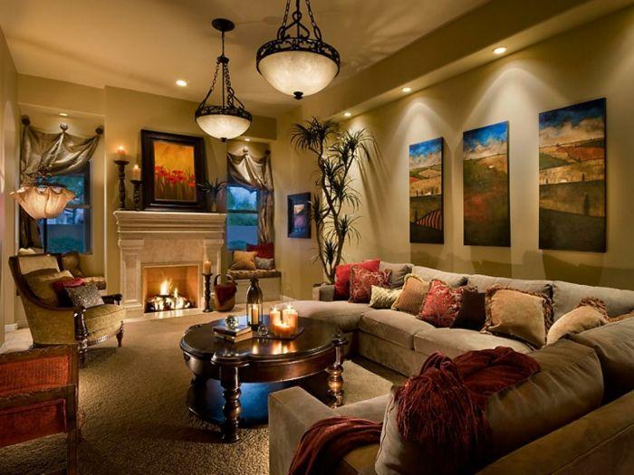 indirekte beleuchtung decke dunkeles interior lichtstimmung - indirektes licht wohnzimmer