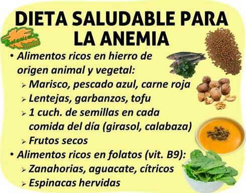 Dieta alimentacion rica en hierro para la anemia remedios caseros pinterest hierro - Alimentos que contengan hierro para embarazadas ...