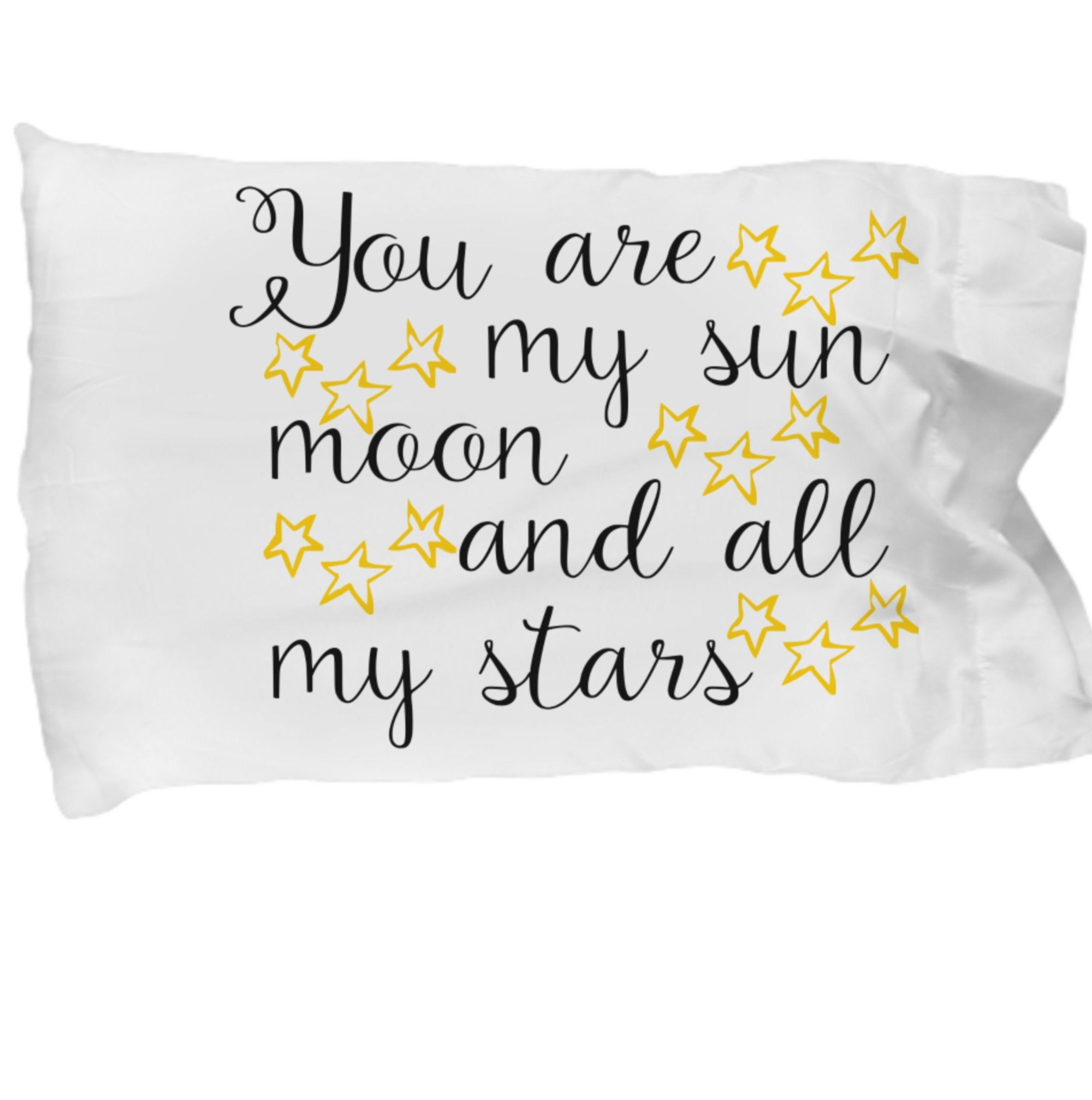 Pillowcase, Pillowcase with Sayings, Kids Pillowcase, Adult Pillow case, Bedroom Decor, Adult Bedding, Kids Bedding, You Are My Sun