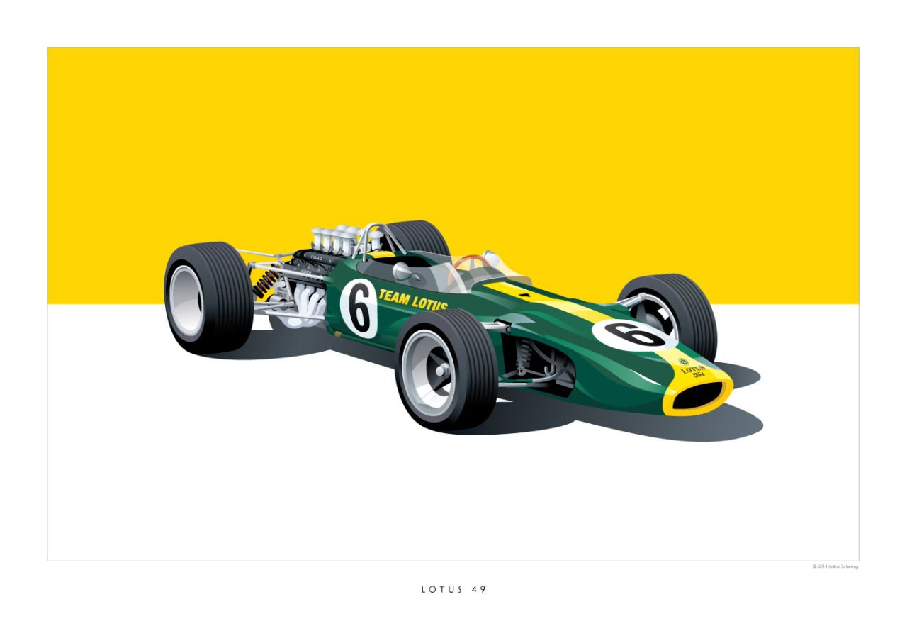 """cashcarscourage: """"iconic racing car posters by Arthur Schening (via ..."""