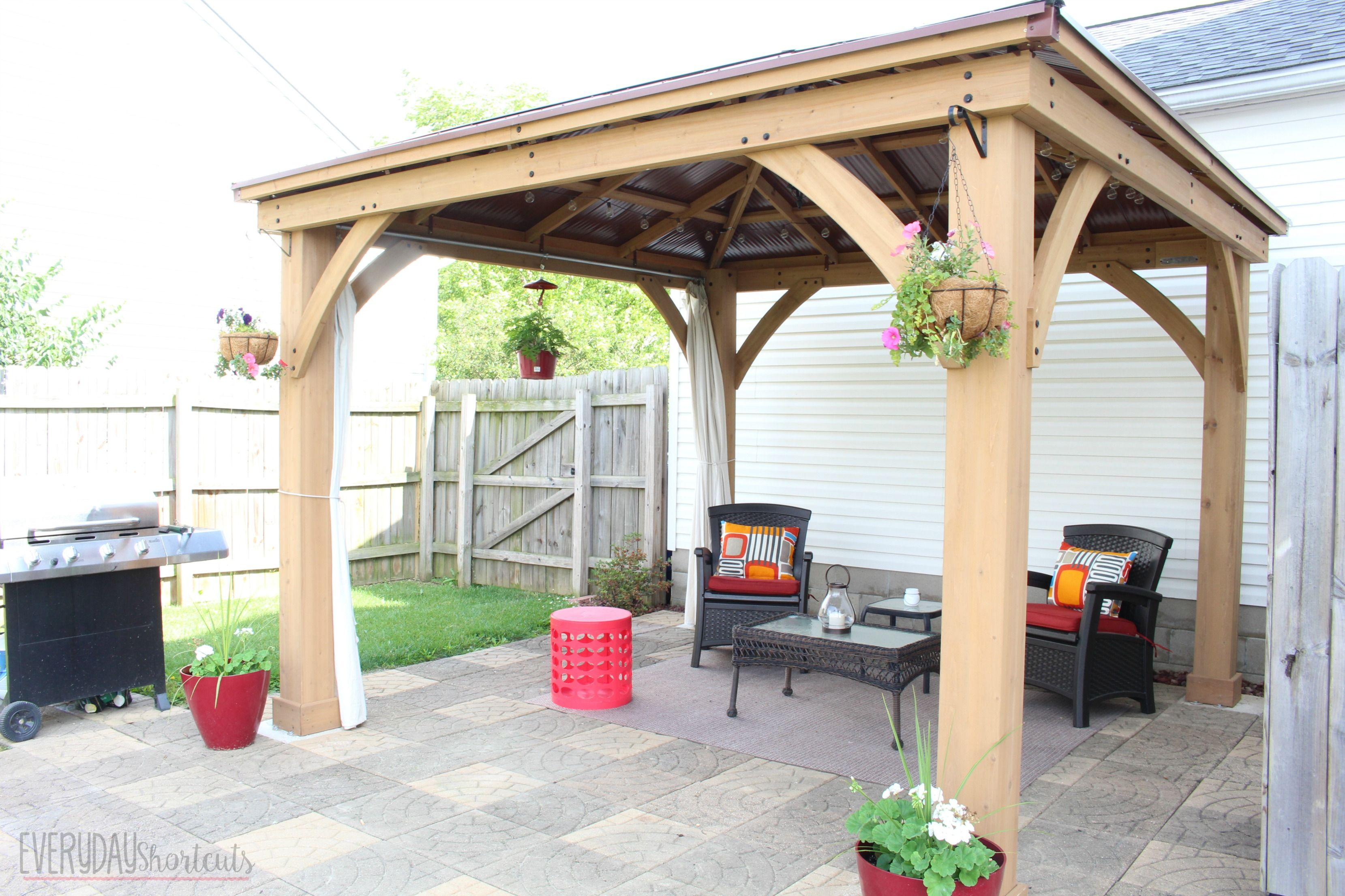 How to Build a Pavilion in a Weekend | Backyard pavilion ...