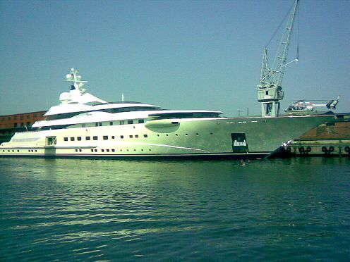 Pelorus: 130 million dollars Pelorus is 337 foot and 3 inches long yacht that again, belong to Roman Abramovic. It was built by the Lürssen yard in Bremen, Germany for Saudi Businessman with the design by Tim Heywood. The Yacht was launched in 2003. After Roman bought the yach, It's refitted with helipad, zero speed stabilizers and some other items. You can find lot of entertainment on the yacht ranging from jet skis to wave runners with a total of 46 crews ready to serve the yacht's guess.