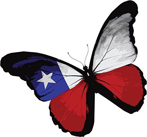 Chile Flag Butterfly Home Decal Vinyl Sticker 13 X 12 Want Additional Info Click On The Image Affili United States Flag Butterfly Pattern Vector Graph