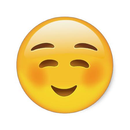 White Smiling Face Emoji Classic Round Sticker | Zazzle.com | Emoji faces, Emoji, Smile face