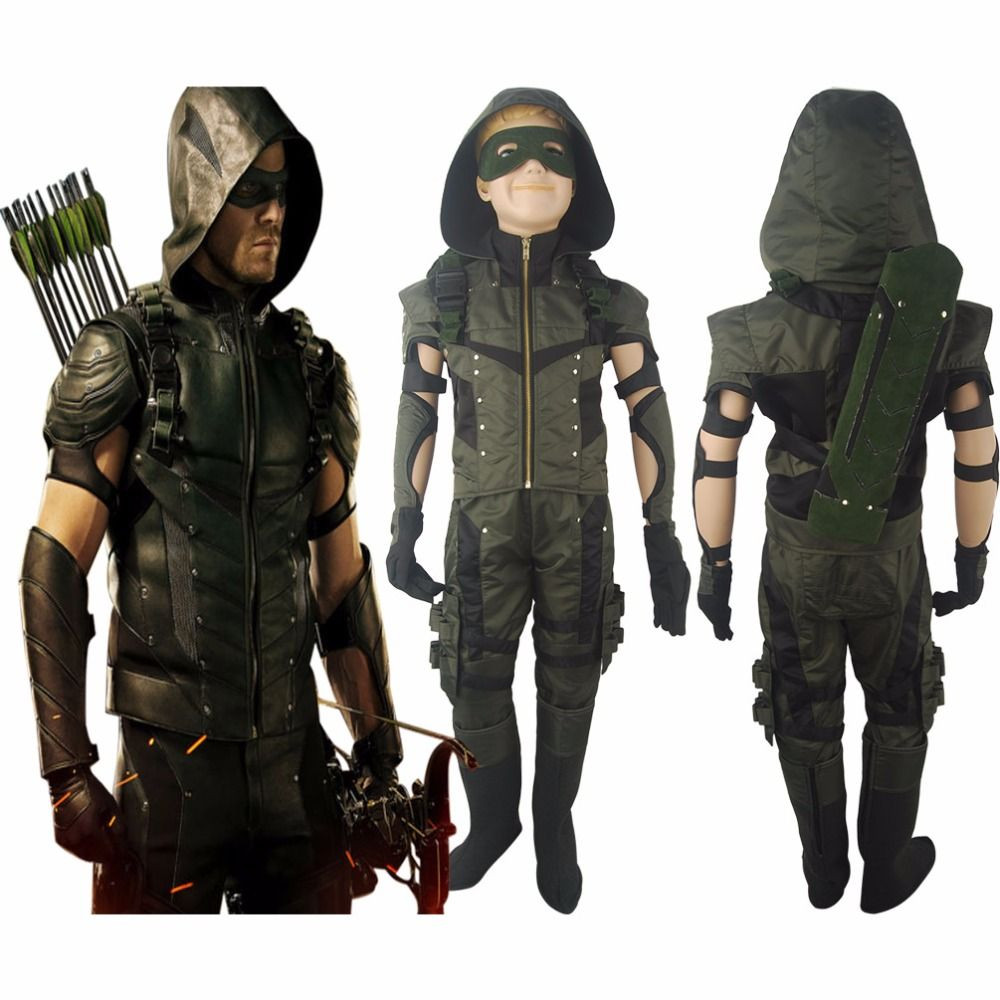 Boys Kids Green Arrow Season 4 Oliver Queen Jacket Outfit ...