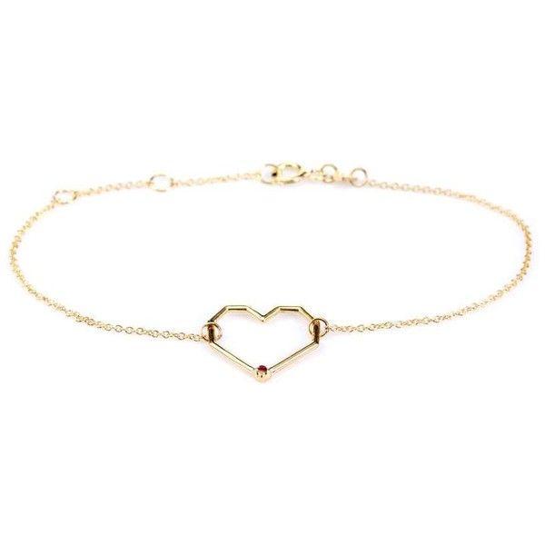 Aliita Corazon Rubi 9kt gold and ruby chain bracelet it1csLRVR