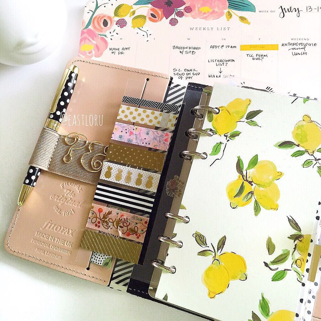 I'm obsessed with this DIY Filofax dashboard made from the beloved Kate Spade lemon print!  so cute!