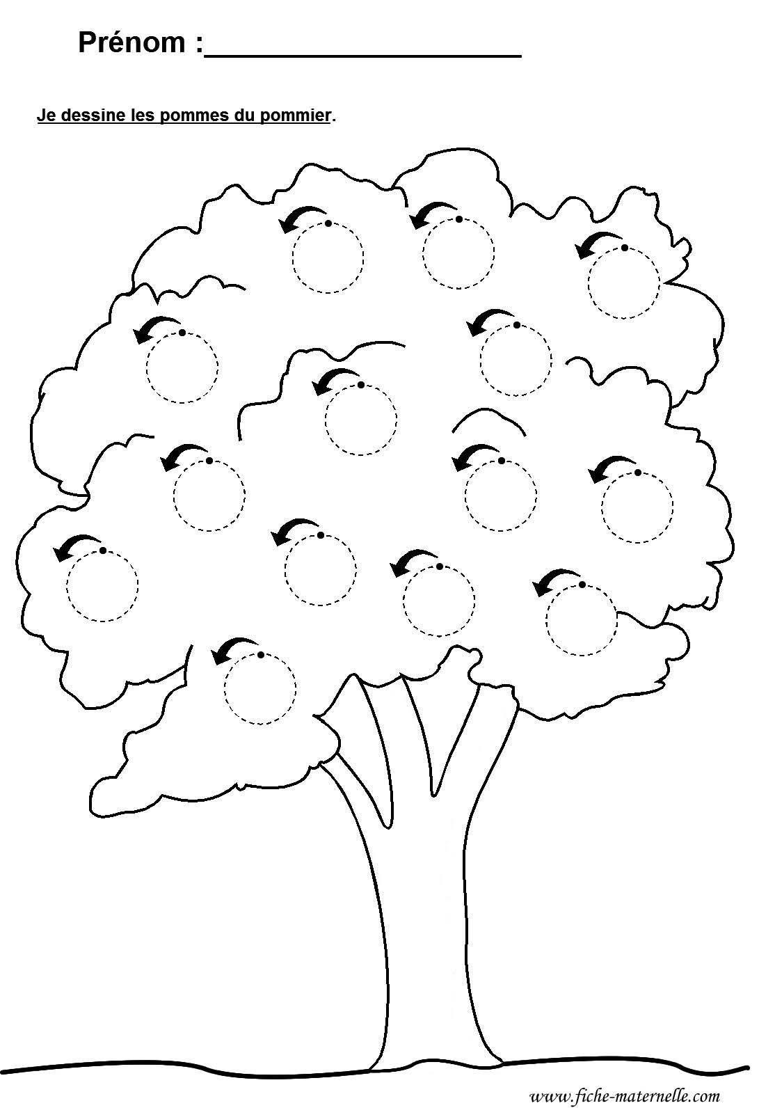 Schreiben Lernen Apfelbaum Schreibmotorik Vorschule