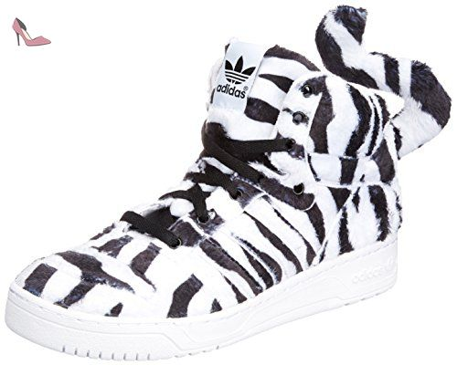 best loved 75abd 1b482 ADIDAS ORIGINALS JEREMY SCOTT TIGRE BLANC CHAUSSURE BASKET REF- B26037 (7.5  UK) -
