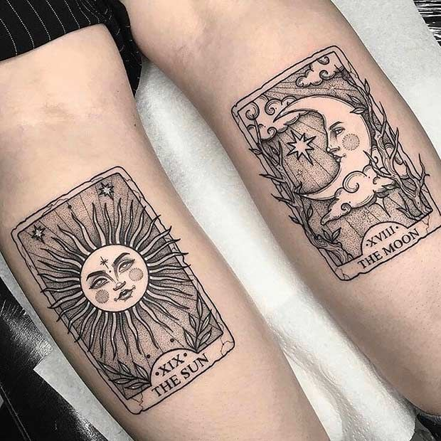 63 Most Beautiful Sun and Moon Tattoo Ideas | Page 3 of 6 | StayGlam