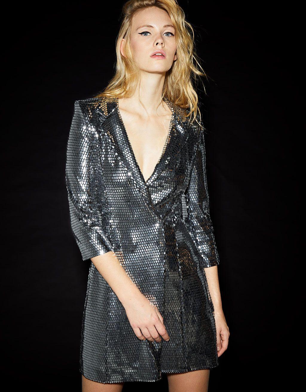Metalizado Blazer 2019Style Inspo Vestido Efecto Tipo En zSMpqUVG