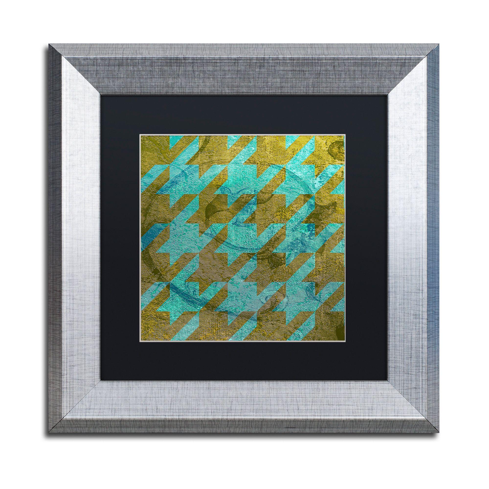 Color Bakery Houndstooth V Matted Framed Art