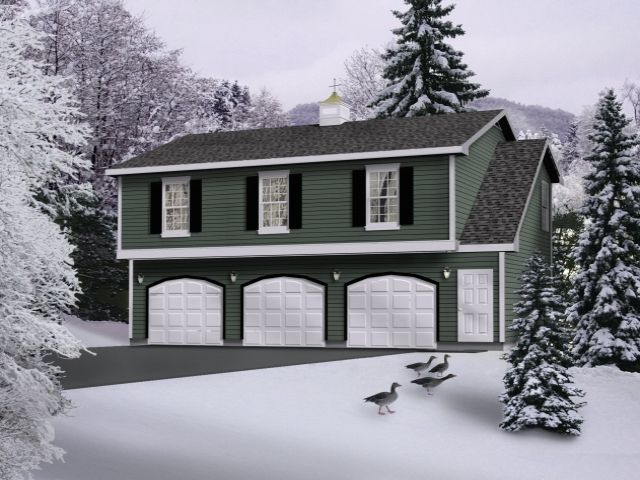 Three car garage apartment boasts two bedroom apartment above it – Plans For 3 Car Garage With Apartment Above