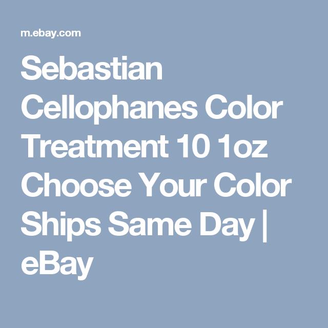 Sebastian Cellophanes Color Treatment 101oz Choose Your Color