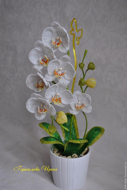 Цветы из бисера орхидея схема фото 150
