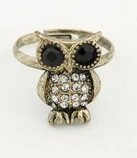 Bronze Korean Fashion Owl Ring 10011749-178