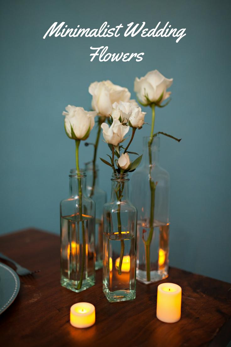 Minimalist Flowers Big Impact Frugal Wedding Inexpensive Wedding Centerpieces Wedding Flowers