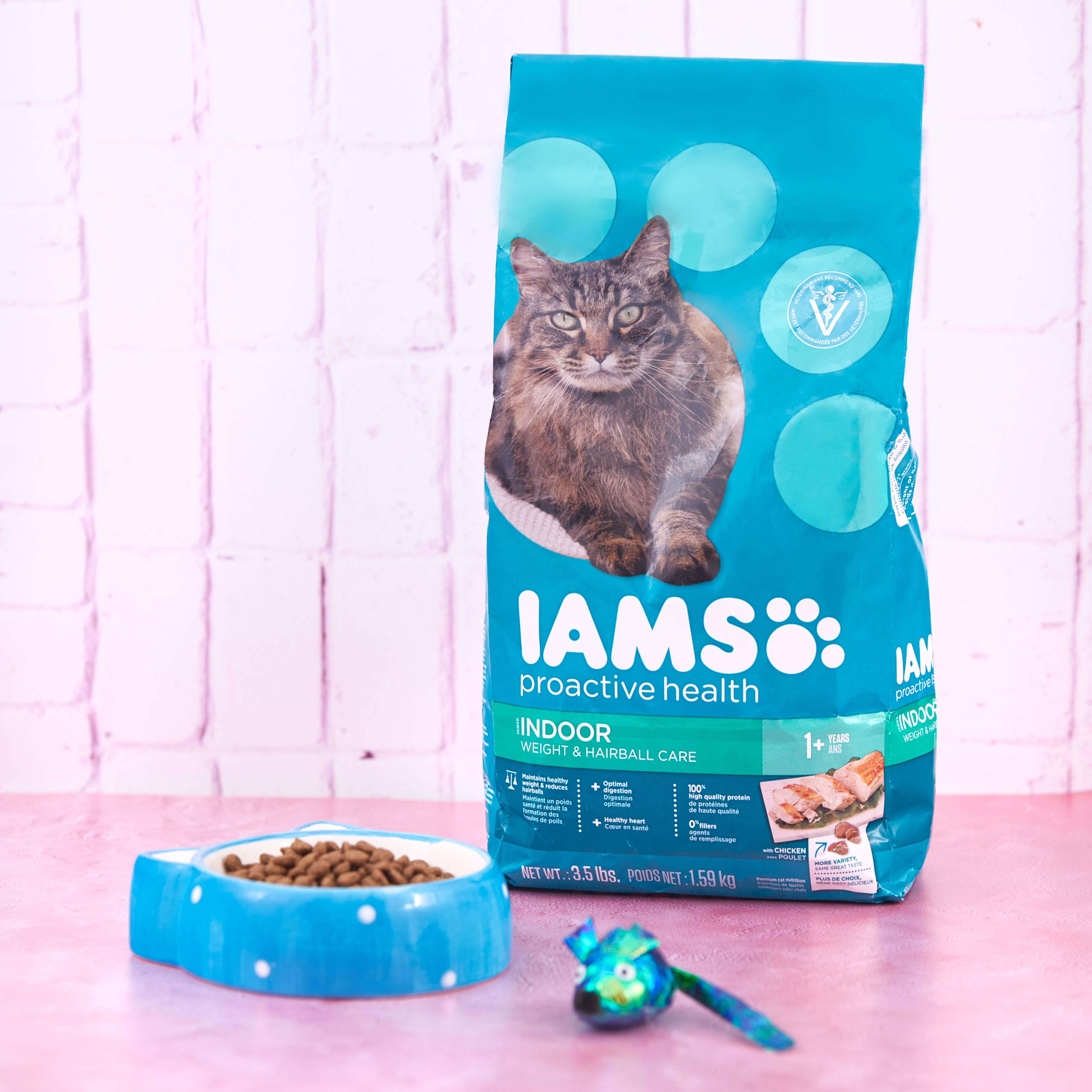 Iams Proactive Health Indoor Weight Hairball Care Dry Cat Food 16 Lb Bag Chewy Com Dry Cat Food Cat Food Healthy Digestive System