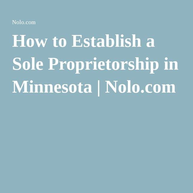 How To Establish A Sole Proprietorship In Minnesota Nolo Com History Essay Sole Proprietorship Education In Pakistan