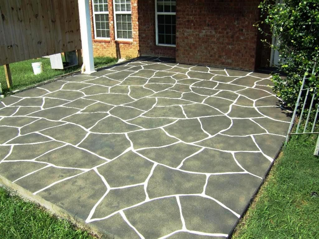 inexpensive concrete landscaping patio don stamped figure king ideas designs around