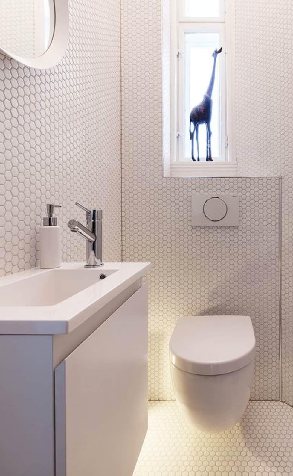 Trend Hexagonal Mosaic Tiles Moderne Badezimmer Von Trend Group Modern Fliesen Kleines Wc Zimmer Badezimmer Und Kleine Badezimmer